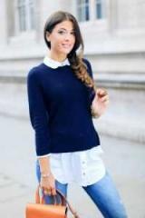 Как носить и как сочетать свитер с рубашкой женщины и мужчины